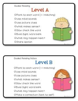 guided reading strategies for each level