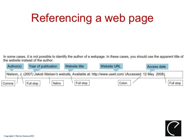 harvard referencing guide internet sources