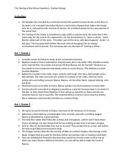 taming of the shrew study guide answers