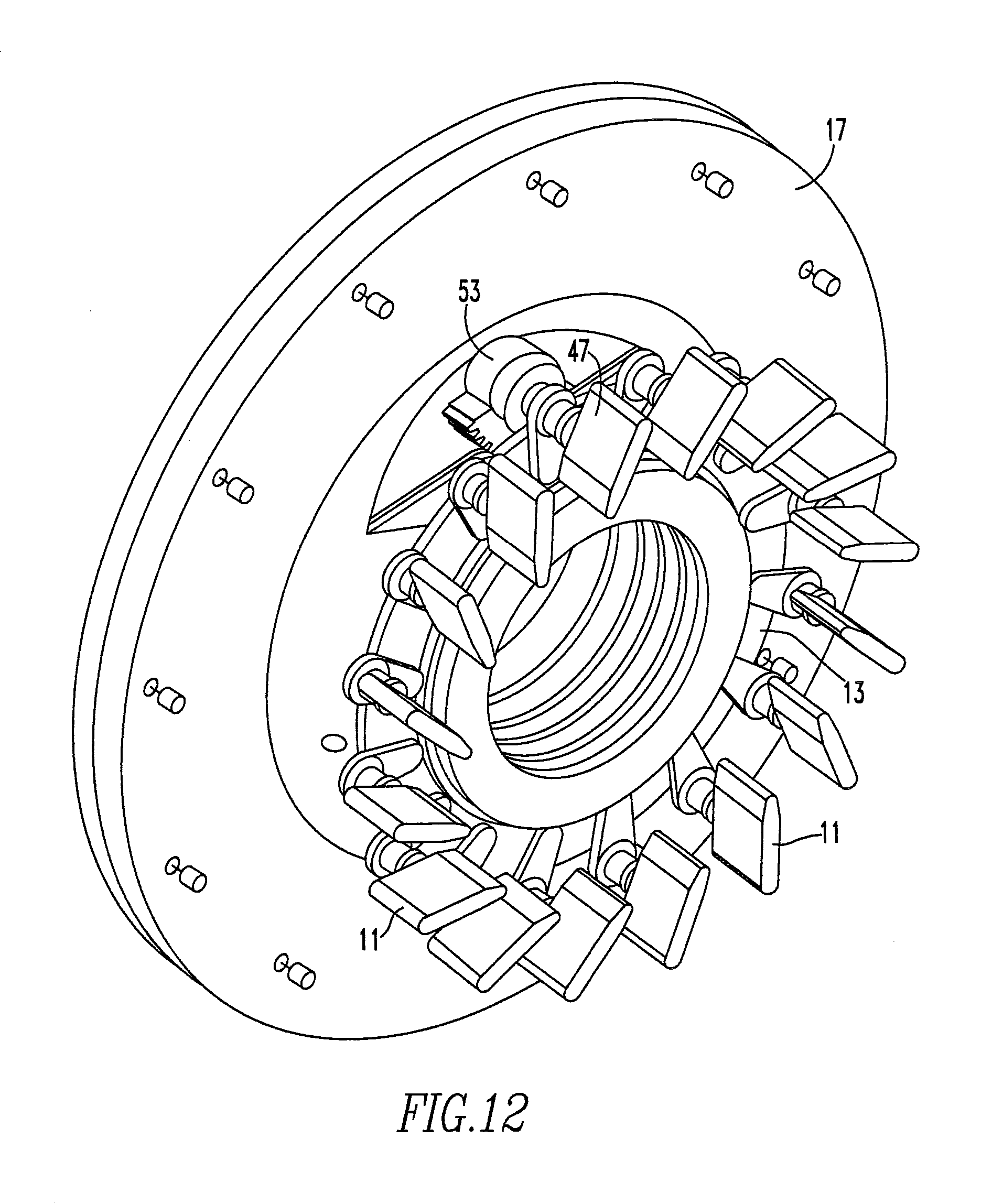 guide vanes in centrifugal compressor