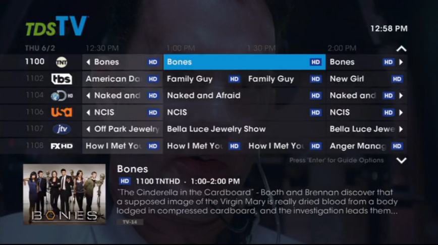 how to use ivue tv guide