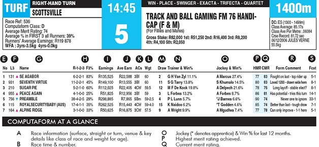 free form guides for horse racing