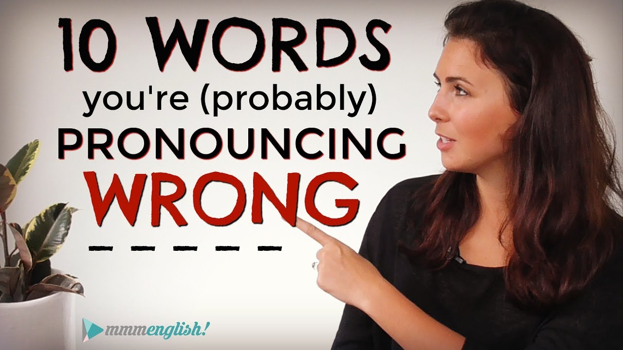 pronunciation guide for english words