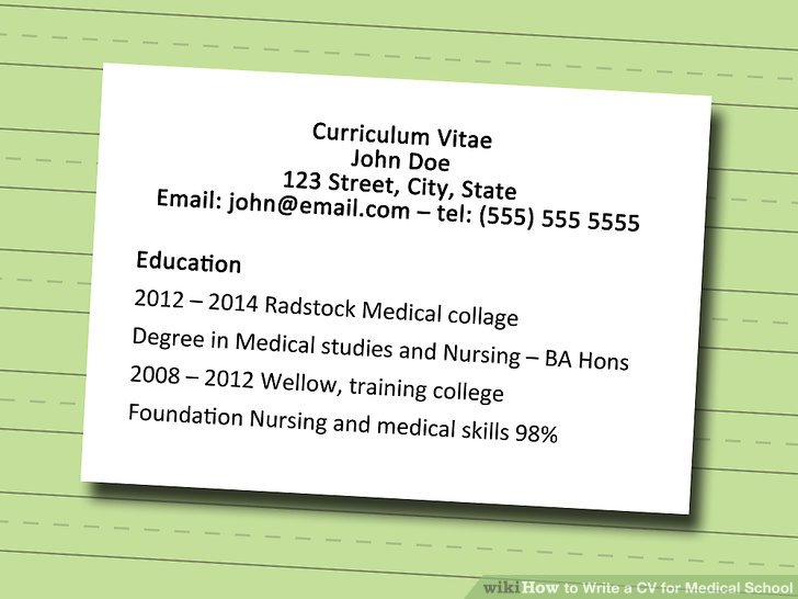 step by step guide on how to write a cv